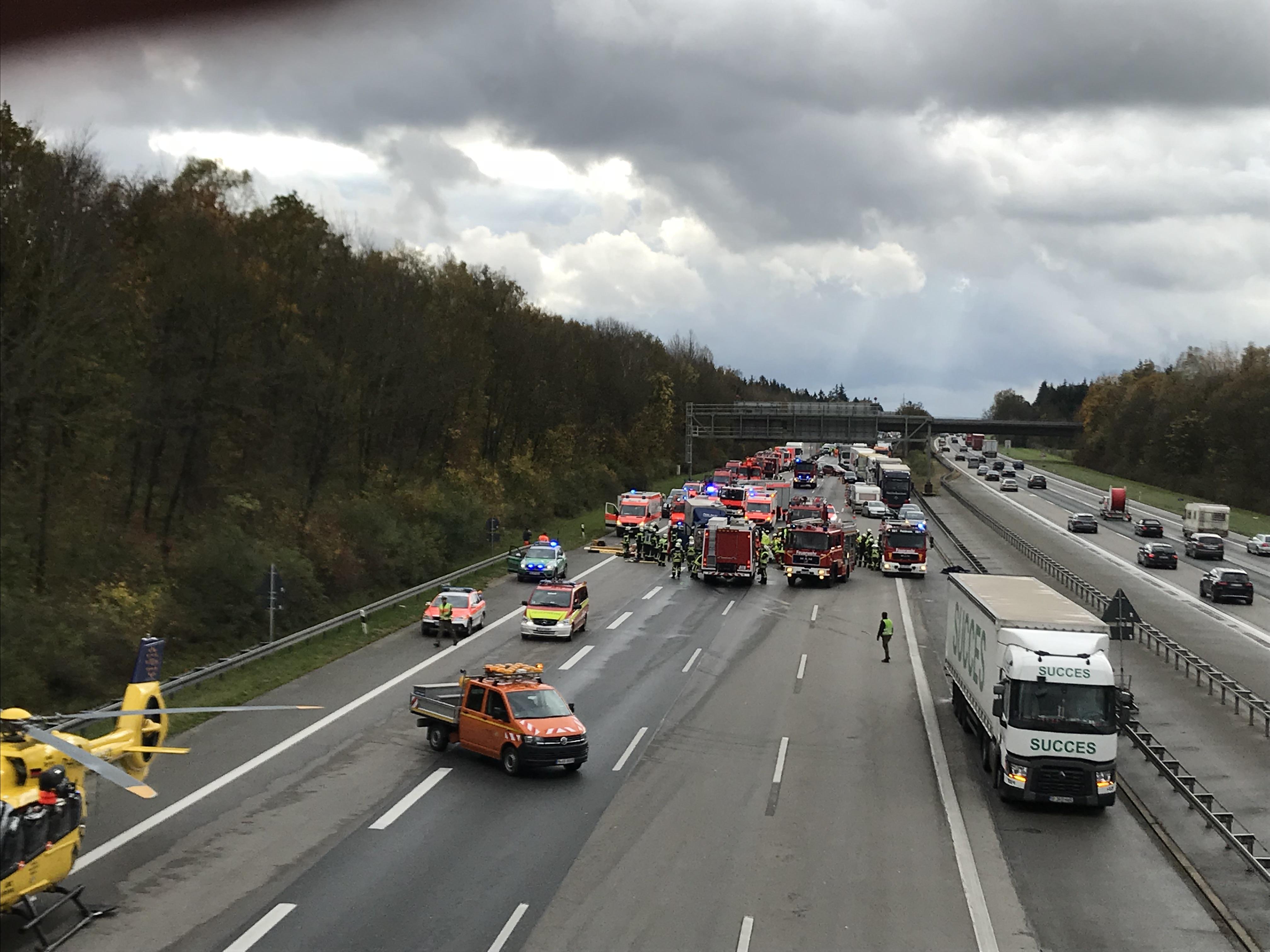 Schwerer Unfall auf der A99
